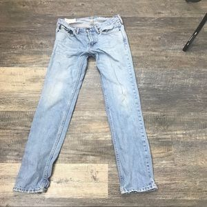 Girl Light Wash Abercrombie and Fitch Jeans